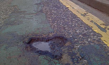 Leith Walk potholes: Leith Walk Pothole