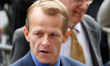 David Laws arriving to negotiate with the Tories on 10 May 2010.