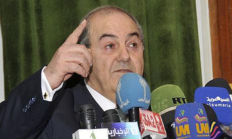 Iyad Allawi, the former Iraqi PM