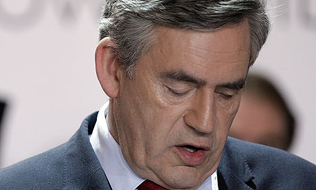 Gordon Brown in Kirkcaldy on election night