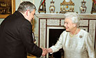 Gordon Brown with the Queen