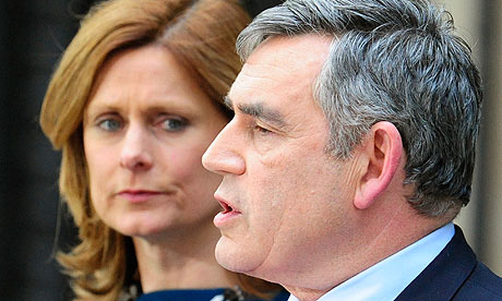 Gordon Brown announcing his resignation