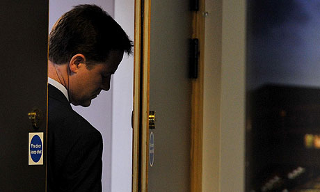 Nick Clegg on election night