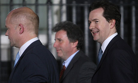 George Osborne, right, arriving at 10 Downing Street