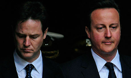 Nick Clegg with David Cameron