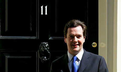 George Osborne, the new chancellor, outside 11 Downing Street on 12 May 2010.