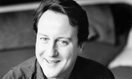 David Cameron at home in London in 2005.