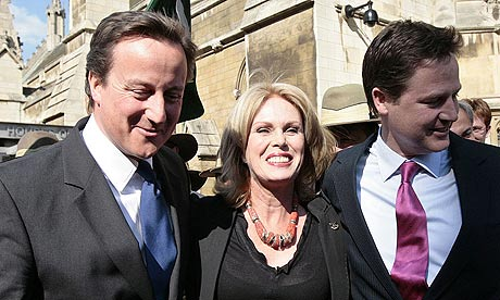 David Cameron and Nick Clegg's Gurkha moment with Joanna Lumley
