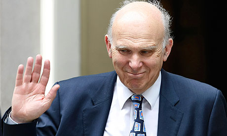 Vince Cable outside 10 Downing Street