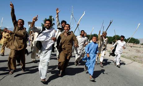 Residents protest in Nangahar, Afghanistan