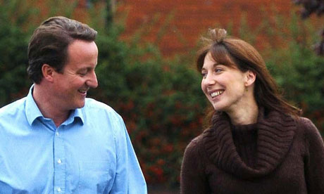 David Cameron and Samantha