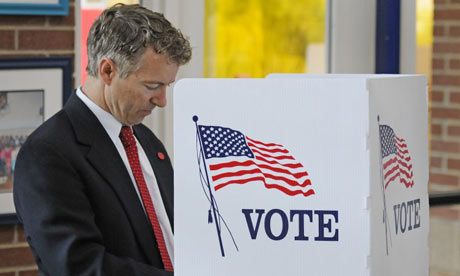 Rand Paul voting in Kentucky