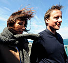 David Cameron campaigns with his wife Samantha in Newquay