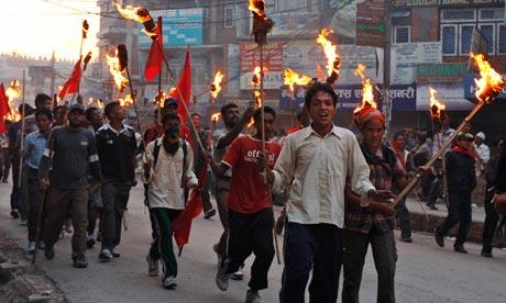 maoist marchers nepal