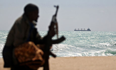 Piracy fears over ships laden with weapons in international waters An-armed-Somali-pirate-on-006