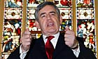 Gordon Brown speaks at the Church of the New Testament in Streatham, London