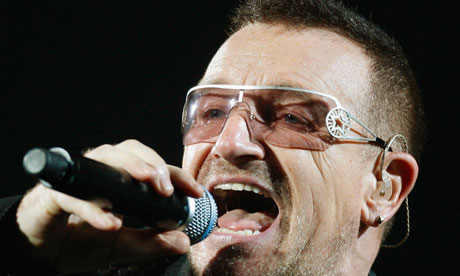 Bono, the lead singer of U2