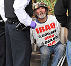 Protester Brian Haws arrested by police on Parliament Square ahead of Queen's speech