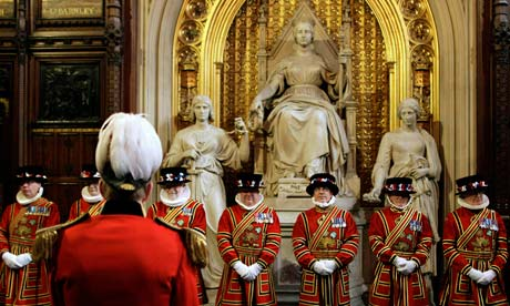 Yeoman of the guard before the state opening of parliament on 25 May 2010.