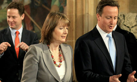 Harriet Harman and David Cameron