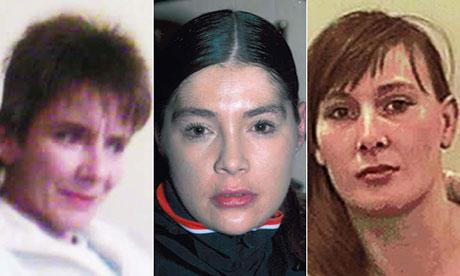 Missing Bradford prostitutes Susan Rushworth, Suzanne Blamires and Shelley Armitage