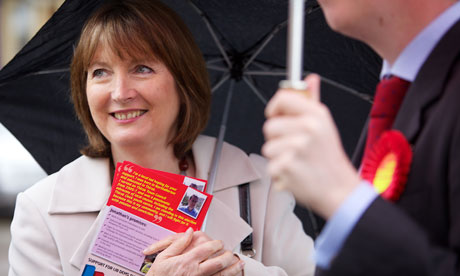 Harriet Harman campaigning in Thirsk