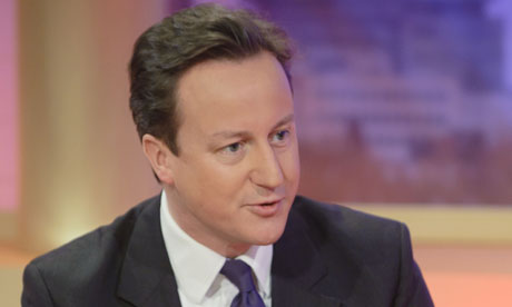 David Cameron on GMTV on 28 May 2010.