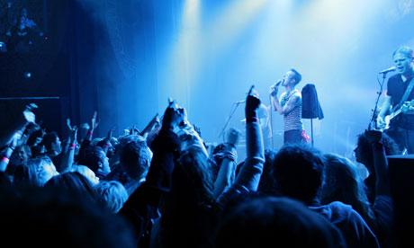 Local band John Olav Nilsen and Gjengen perform at the Ole Bull Scene Theatre in Bergen