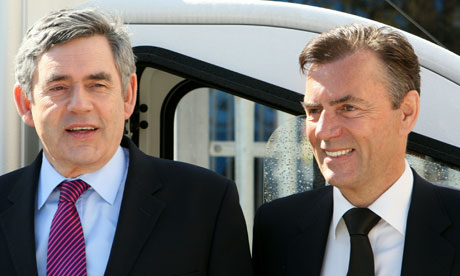 Gordon Brown with Duncan Bannatyne