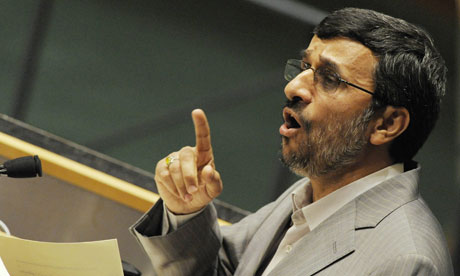 Mahmoud Ahmadinejad addresses UN talks on the non-proliferation of nuclear weapons