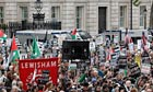 Pro-Palestinian demonstrators block Whitehall