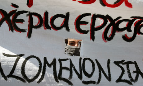 Greek protester, Athens
