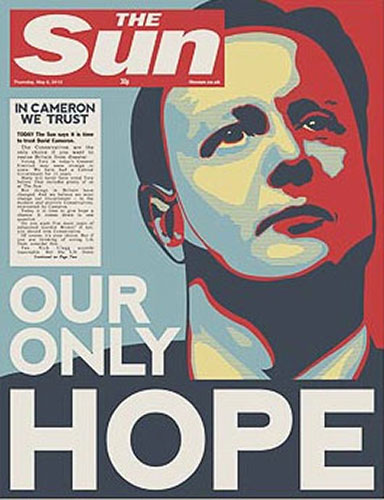 2010 election day newspaper front pages media the guardian