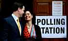 Nick Clegg casts his vote with wife Miriam Gonzalez Durantez at Bents Green in Sheffield