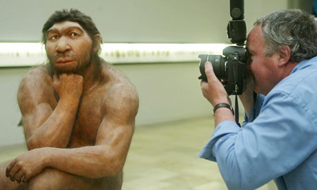 Neandertal museum reconstruction. AFP/Getty Images
