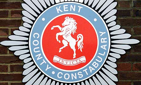 A Kent police badge