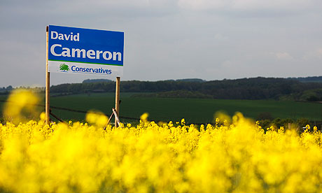 A David Cameron sign in Witney