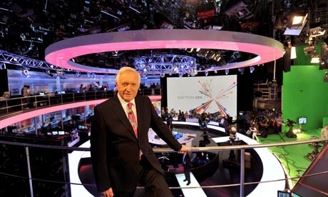 David Dimbleby in the BBC's election night studio