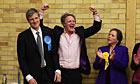 Zac Goldsmith celebrates winning Richmond Park for the Conservatives