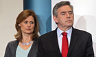 Prime minister Gordon Brown and his wife, Sarah
