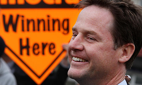 Nick Clegg during the election campaign