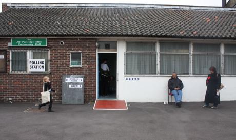 Hackney polling station