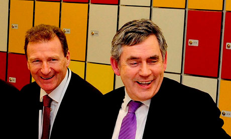 Gus O'Donnell and Gordon Brown