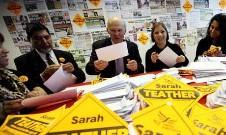 Vince Cable On The Campaign Trail For The Liberal Democrats