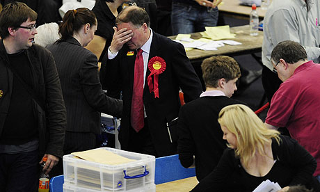 Labour MP Clive Betts at the Sheffield vote count