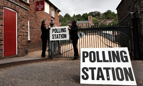 2010 General Election campaign polling station
