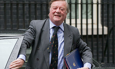 Ken Clarke arrives for the weekly cabinet meeting at 10 Downing Street on 8 June 2010