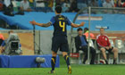 Australia's striker Tim Cahill after his sending off against Germany