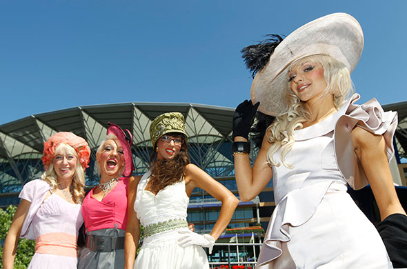 Ladies Day Ascot: Racegoers pose on Ladies Day, Royal Ascot