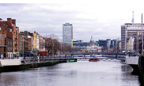 View of the river Liffey in Dublin